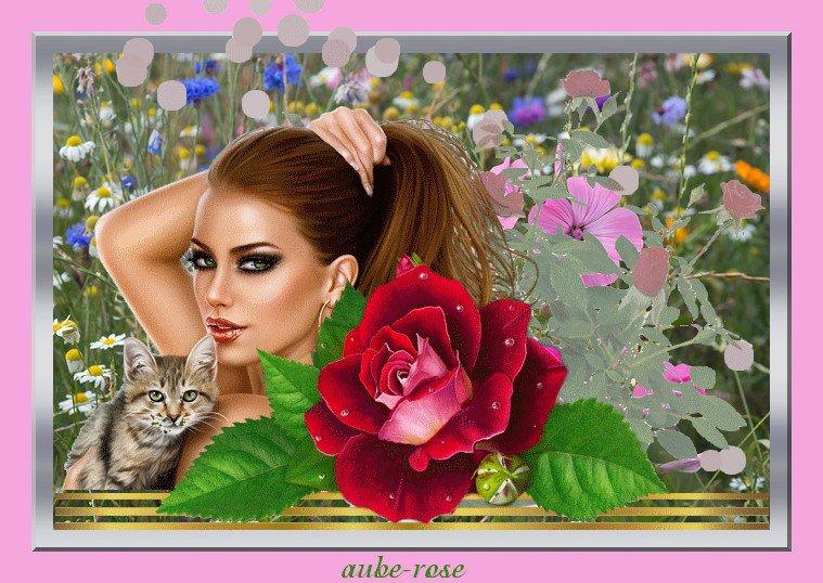 ♥♥  ME VOICI AVEC MARINE POUR VOUS SOUHAITE UN BON JEUDI ET UN AGREABLE WEEK-END  BISOUX  ♥♥  AUBE-ROSE   ♥♥