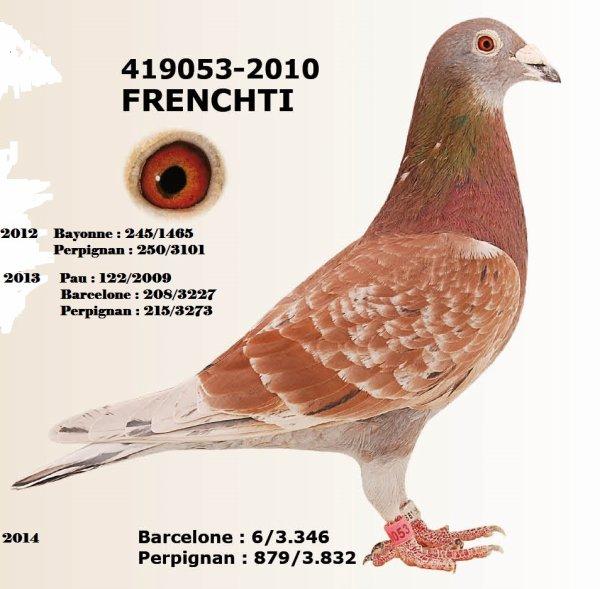 le 419053/2010     6 /6 internationaux  6°/3346 France,  3°/2053 NPC de Barcelone 14+ Bayonne