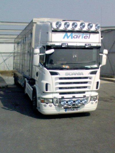 Le Scania R620 des transports Martel de Rouen (76).
