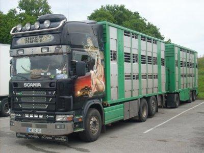 Le Scania 164L 580 de Rodrigue Huet (53).