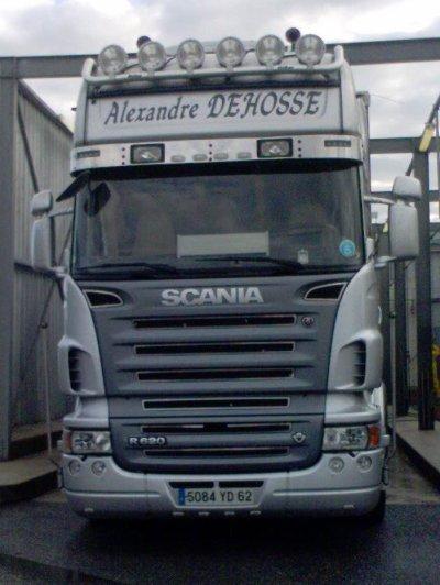 Sam & Élodie, un couple qui est sur ce Scania R620.