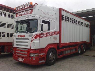 Certains voulaient le voir, un Scania R380 de la même société.