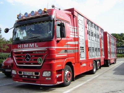 Superbe Mercedes Actros 2548 du transporteur Himml (D).