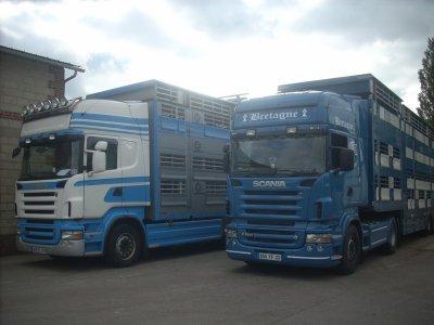 Deux Scania V8 photographiés par Benoit.