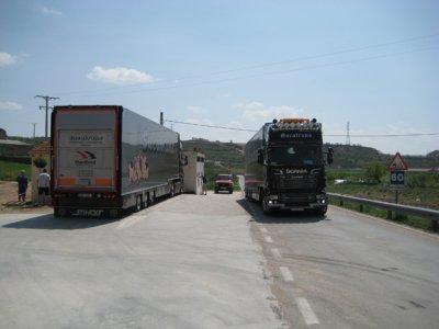 Autre exemple d'un trajet effectué, la liaison du Danemark vers l'Espagne.
