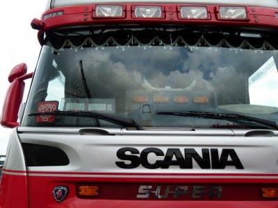 Scania R480 du commerçant de porcs Van Den Eijnden de Deurne (NL).