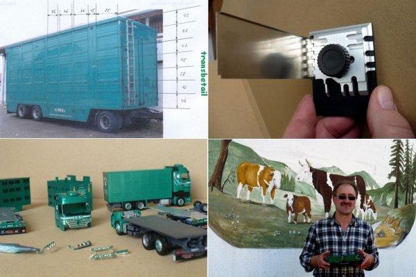Court détour par les miniatures Finkl dont les vrais camions à Anton Gribl (D).