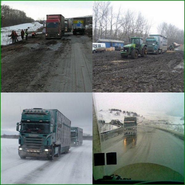 Les rudes conditions de circulation dans les Pays de l'Est et en Asie.