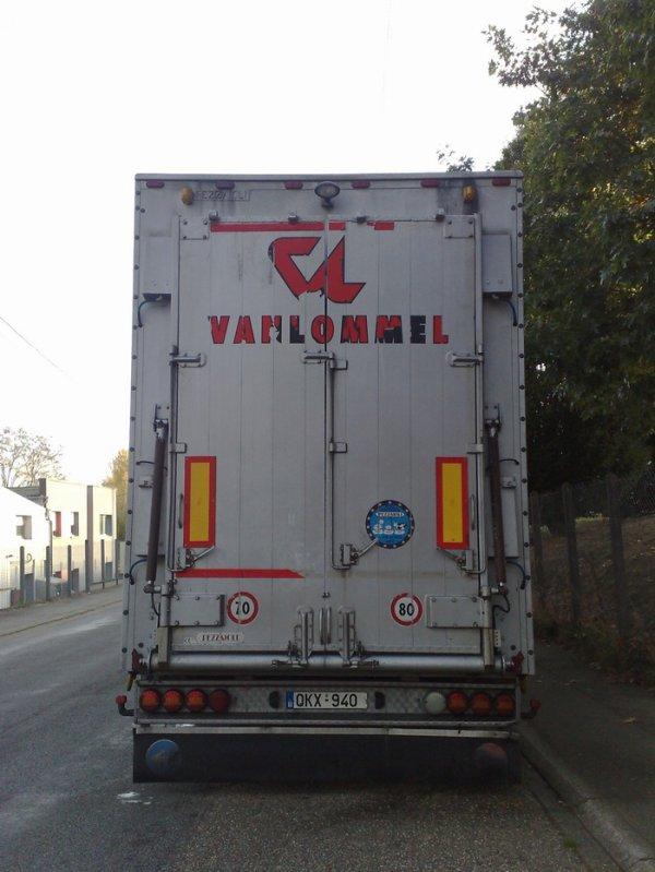Scania R500 de la société d'abattage Vanlommel située à Olen (B).