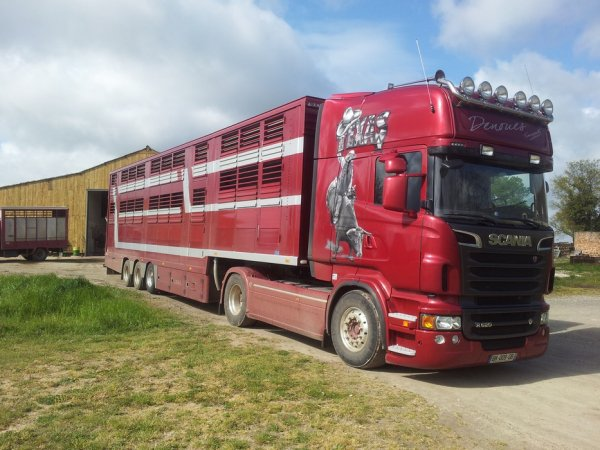 À bord du Scania R620 des transports Denoues (79) au travers de quelques voyages.