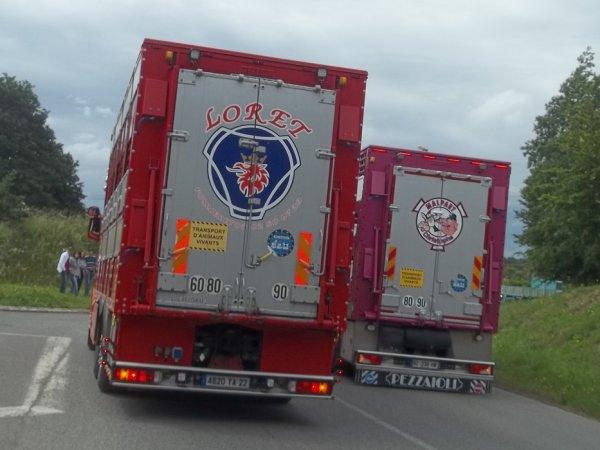 Je vous laisse apprécier d'autres photos du Scania R560 des transports Loret (22).