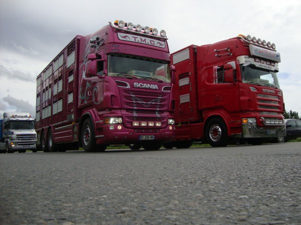 Dernière série sur la concentration des camions de Plaintel (22).