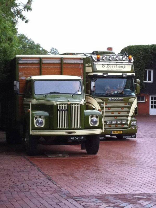 Scania L81 de B. Boerkamp (NL) et de vieux essais pour le compte de Eligor.