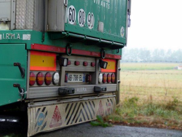 Scania 164L 580 du transporteur Jean-Christophe Desiles de Tresb½uf (35).