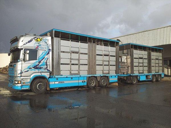 Le tout dernier Scania R560 arrivé chez les transports CMKL Bouhours (27).