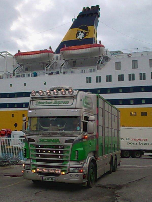 Cap vers l'Ile de Beauté avec le transporteur mayennais Rodrigue Huet.
