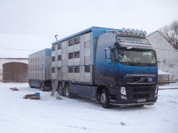 Un mois après la livraison, un deuxième voyage a vu le jour en plein hiver.