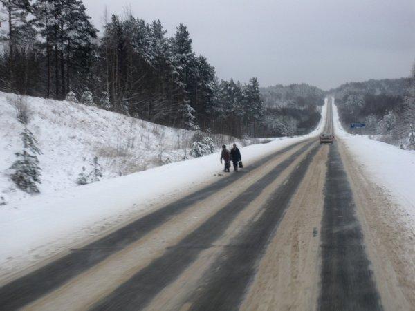 Une voiture de l'exploitant est venue les escorter pour les derniers kilomètres.