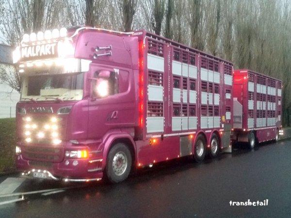 Nouveau Scania R580 Streamline à Christophe Malpart de Ploumagoar (22).
