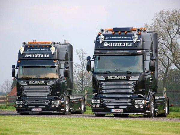 Séance photo des deux Scania Streamline signée par Duckie's Truckpictures.