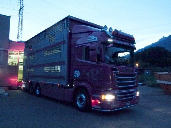 Une nuit sur les routes suisses avec Mathieu des transports Desmeules (CH).
