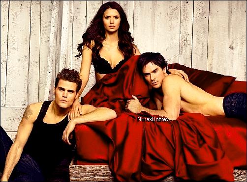 . Scans du magazine Entertainment Weekly. Sur ce shoot, on peut y voir Nina avec Paul et Ian dans un contexte ... spécial ! Il a été réalisé par Ruven Afanador. Vos avis ? .