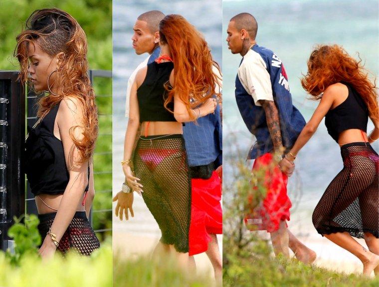 Rihanna sur les plages de Hawaii..