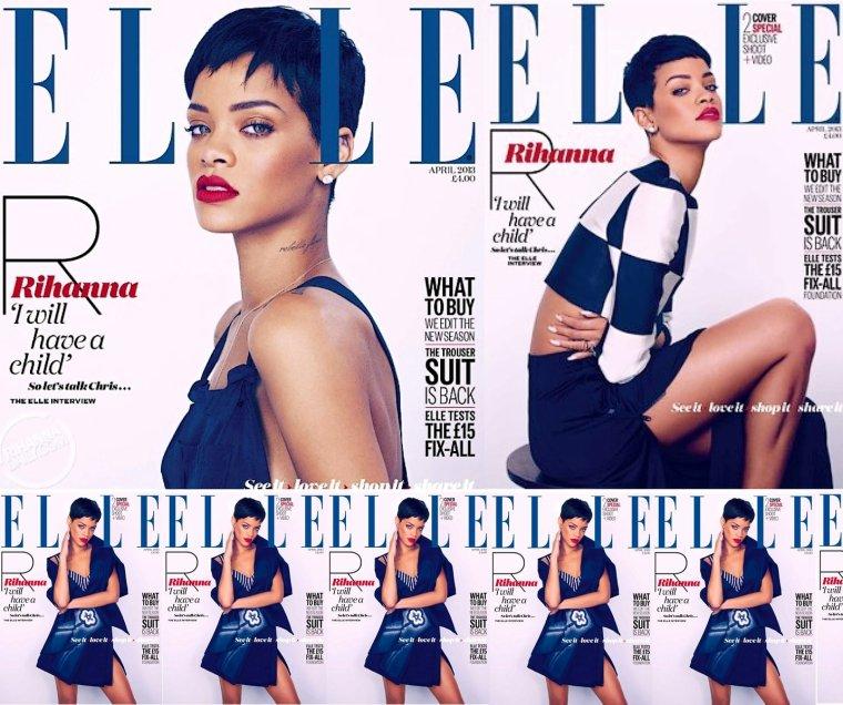 """Rihanna pour le Magazine """" Elle """""""
