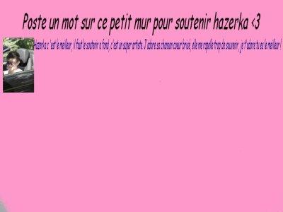 Texte pour soutenir hazerka <3
