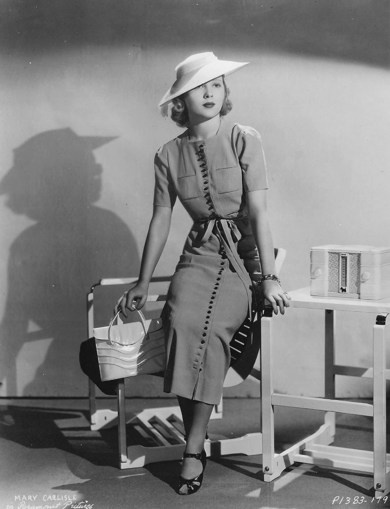 Mary CARLISLE (3 Février 1914) (photo N.B. 1937)