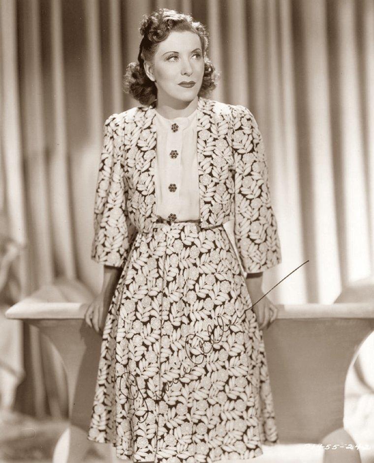 Gracie ALLEN (26 Juillet 1895 / 27 Août 1964) (photo N.B. 1936)