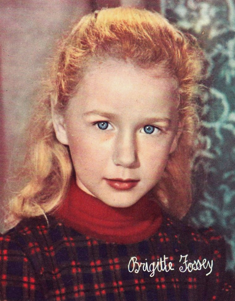 Brigitte FOSSEY (15 Juin 1946) (photo N.B. 1952)
