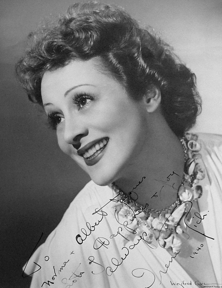 Irene RICH (13 Octobre 1891 / 22 Avril 1988)