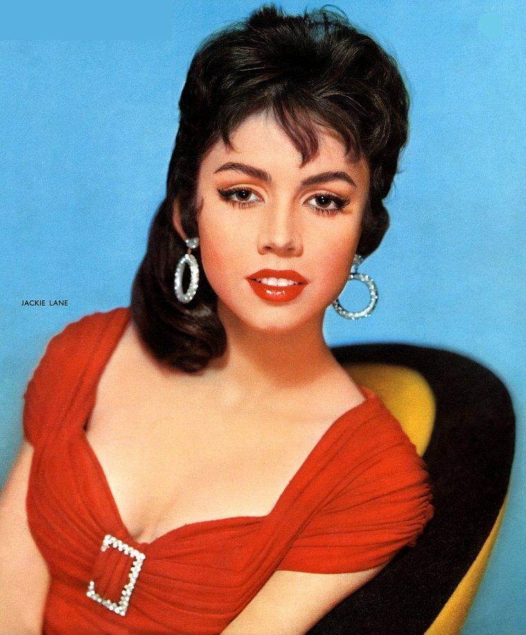 Jocelyn LANE aussi connue sous le pseudo de Jackie LANE (16 Mai 1937) (photo couleur 1957)