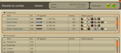combat du up de sacri :) 95 et 39% de challenge