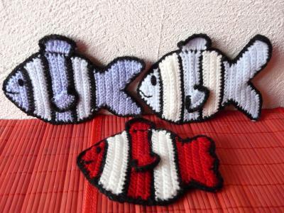 applique poisson blog de crochet. Black Bedroom Furniture Sets. Home Design Ideas