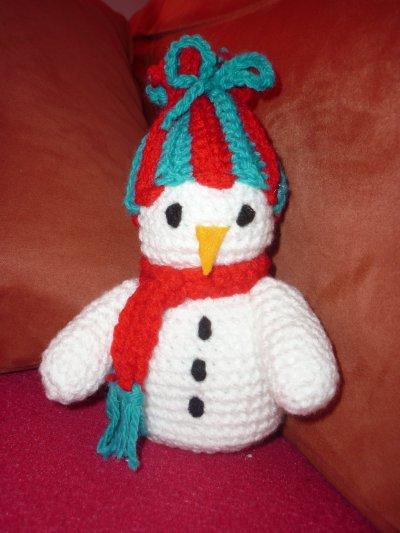Bonhomme de neige blog de crochet - Bonhomme de neige au crochet ...