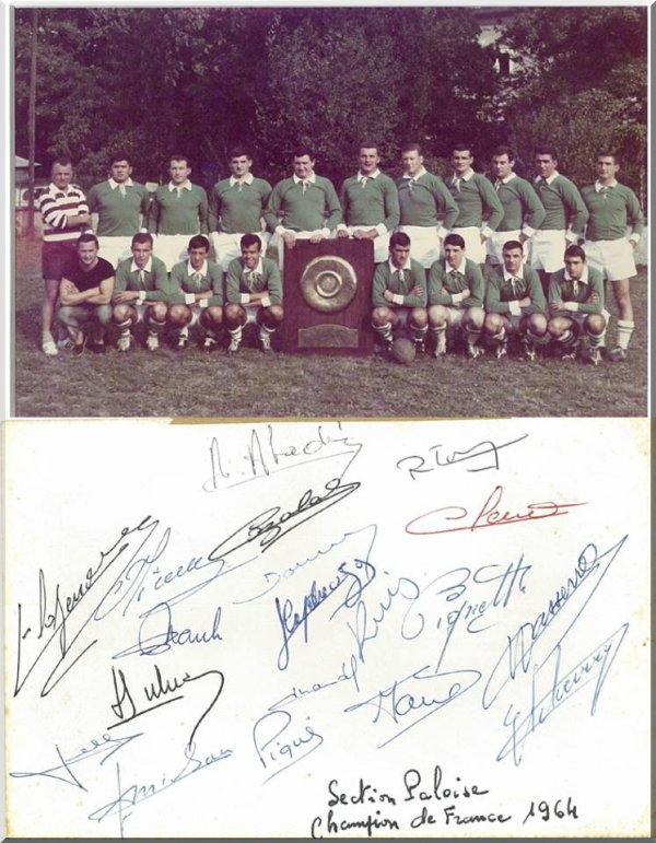 Section Paloise championne de France 1964