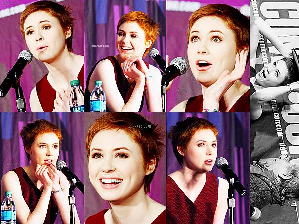 08/02/14 : La belle Karen s'est rendue à la comic-con de Dallas ! Elle à d'ailleurs évoqué le retour surprise d'Amy...