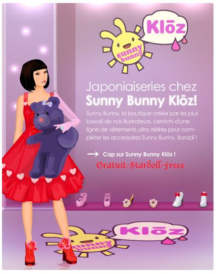 vêtement sunny bunny =)
