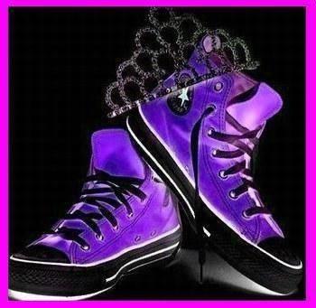 Converse Violette ET Noire