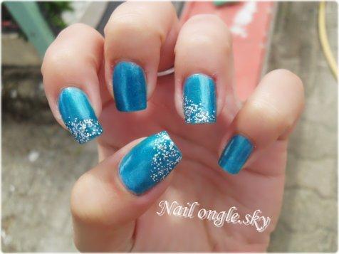 Bleu saphir & paillettes