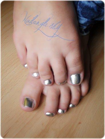 Exemple de Nail-art sur mes Z'orteil