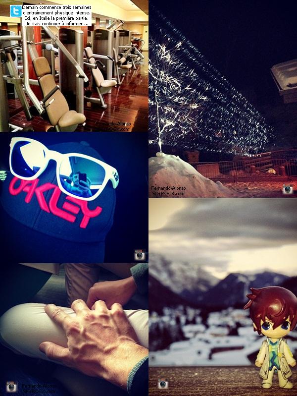 20.01.2013 : Tweet de Nano & Photos instagram de ces derniers jours.