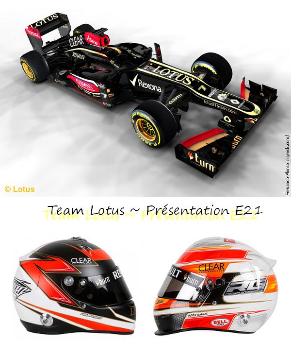 28.01.2013 : Présentation Lotus F1 ~ E21