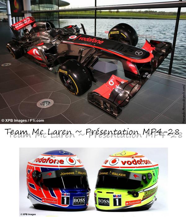 31.01.2013 : Présentation Mc Laren ~ MP4-28
