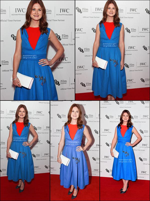 - 7 Octobre 2014 : Bonnie s'est rendu à un dîner de gala en l'honneur du BFI London Film Festival. -