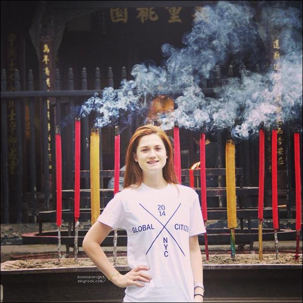 - 28 Septembre 2014 : Bonnie, a participé au Global Citizen dont les photos de la préparation sont ici. -