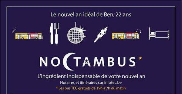 Noctambus, l'ingrédient indispensable de votre nouvel an!