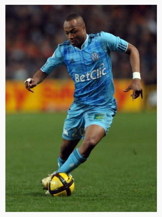 André Ayew sous les couleurs de l'olympique de Marseille saison 2010-2011.